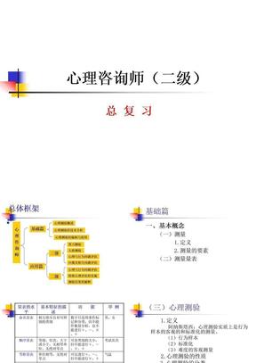 心理咨询师(二级总复习).ppt