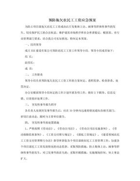 预防拖欠农民工工资应急预案.doc