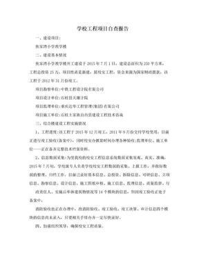 学校工程项目自查报告.doc