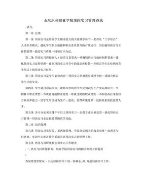 山东水利职业学院顶岗实习管理办法.doc