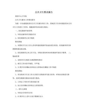 公共卫生整改报告.doc
