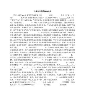 个人与公司合作协议书.docx