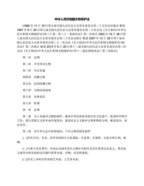 中华人民共和国文物保护法.docx
