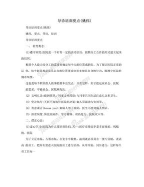 导诊培训要点(姚伟).doc