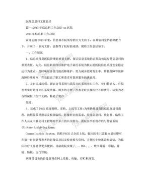 医院信息科工作总结.doc