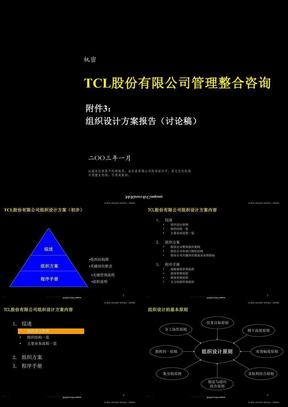 174 麦肯锡-TCL股份组织结构设计方案清华汉魅.ppt