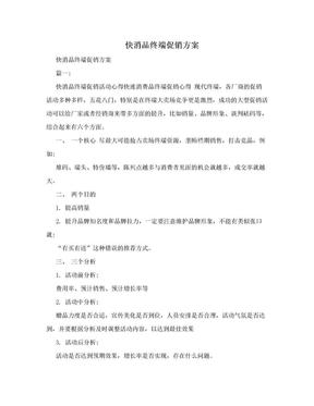 快消品终端促销方案.doc