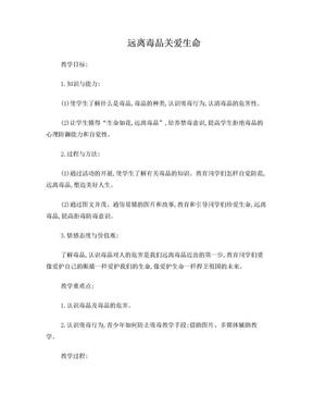 禁毒防毒主题班会教案.doc