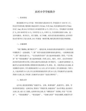 农村小学学校简介.doc
