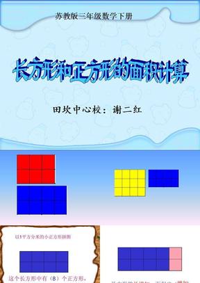 长方形和正方形的面积计算课件(苏教版三年级数学下册课件).ppt