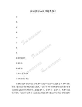 高标准农田建设监理评估报告.doc