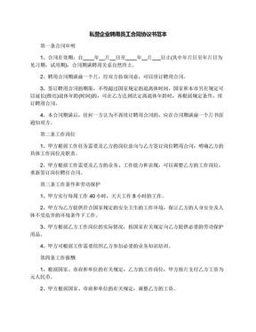 私营企业聘用员工合同协议书范本.docx