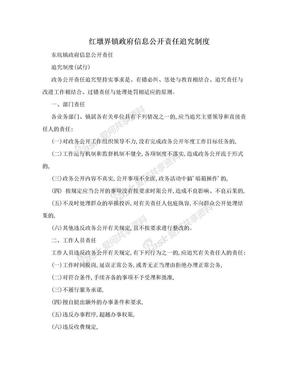 红墩界镇政府信息公开责任追究制度.doc