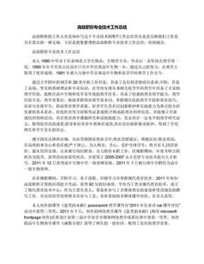 高级职称专业技术工作总结.docx