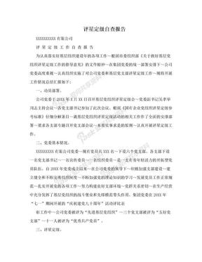 评星定级自查报告.doc