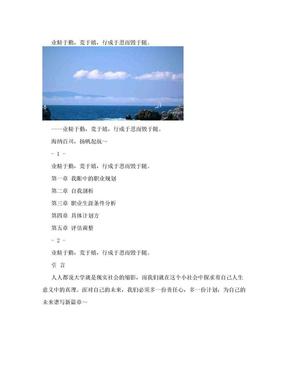 环境工程专业 职业生涯规划.doc