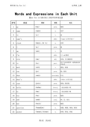 新目标七年级英语单词表.pdf