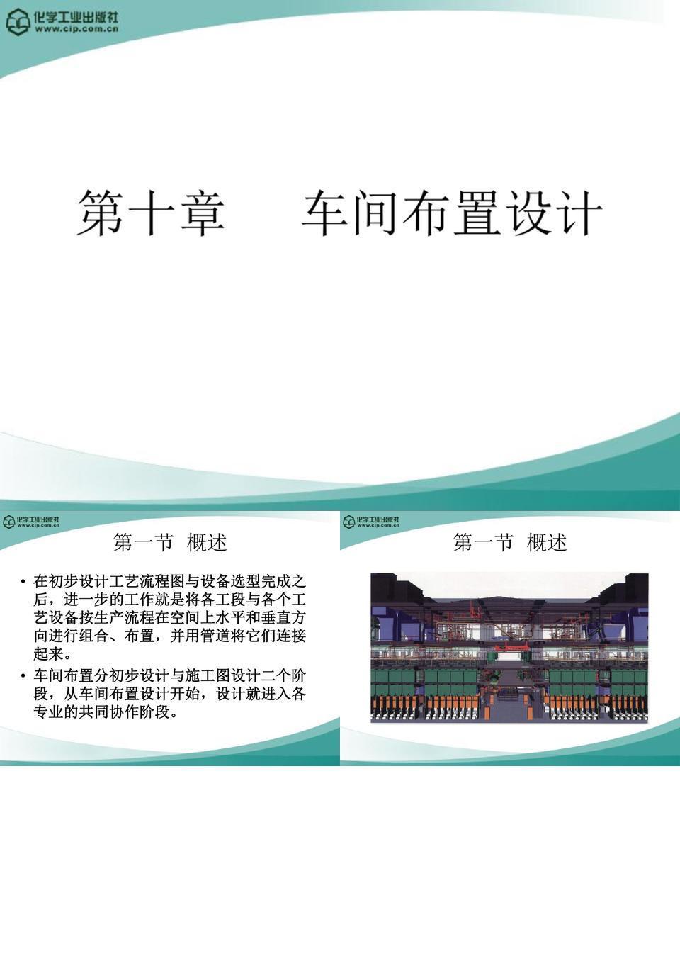 高分子材料加工厂设计(徐德增)第十章_车间布置设计.ppt