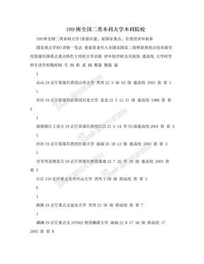 109所全国二类本科大学本科院校.doc