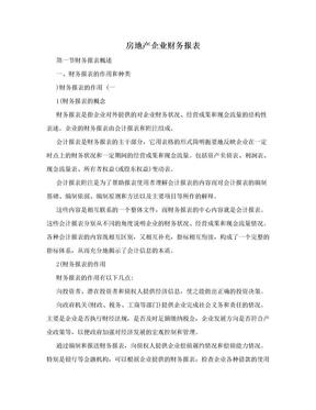 房地产企业财务报表.doc
