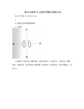 陈式太极拳56式动作图解及攻防含意..doc