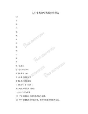 5.5寸黑白电视机实验报告.doc