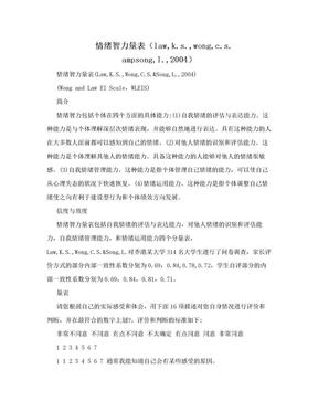 情绪智力量表(law,k.s.,wong,c.s. ampsong,l.,2004).doc