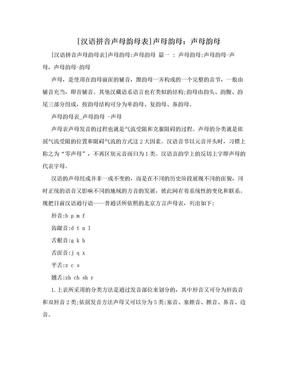 [汉语拼音声母韵母表]声母韵母:声母韵母.doc