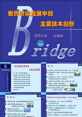 世界桥梁发展中的主要技术创新.ppt