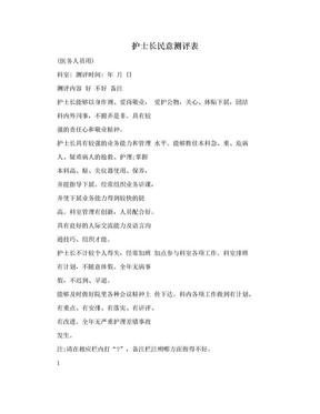 护士长民意测评表.doc