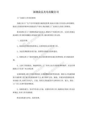 工厂各部门工作岗位职责.doc