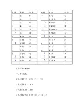 汉字笔画名称及书写规则.doc
