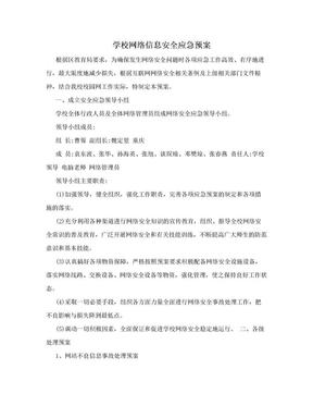 学校网络信息安全应急预案.doc