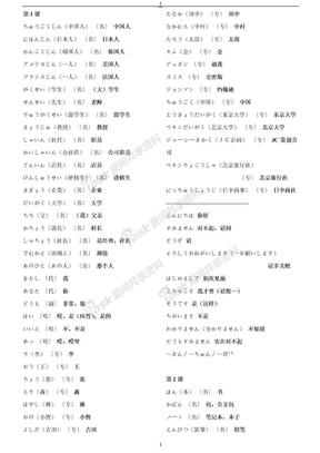 新版标准日语初级上册单词.txt.doc