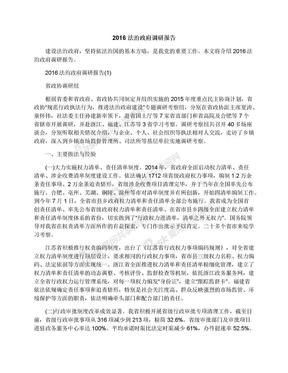 2016法治政府调研报告.docx