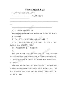 职业病危害防治整改方案.doc