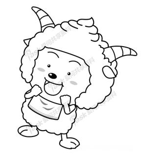 喜羊羊填色画.pdf