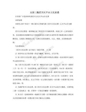 太原三槐茗川天平山王氏家谱.doc
