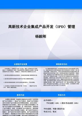 杨毅刚高新技术企业集成产品开发(IPD)管理.ppt