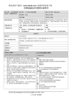 1128营销部副总经理职位说明书.doc