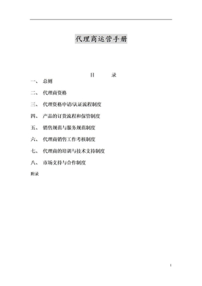 代理商运营手册.doc