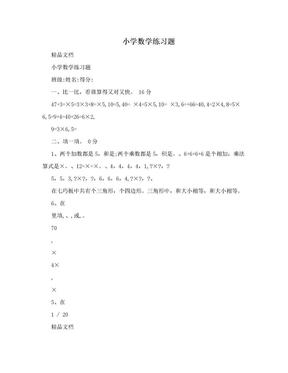 小学数学练习题.doc