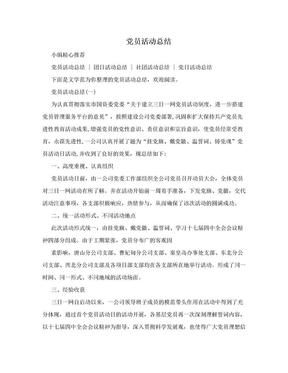 党员活动总结.doc