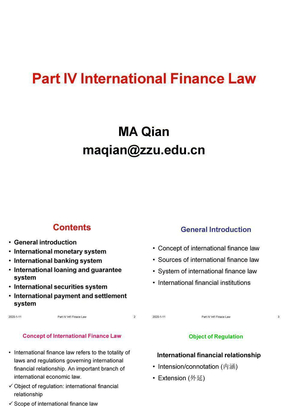 Lecture 17 Part III Int'l Investment Law1.ppt