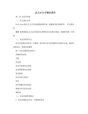 武大社会学概论课件.doc