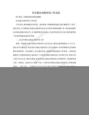 社会稳定风险评估工作总结.doc