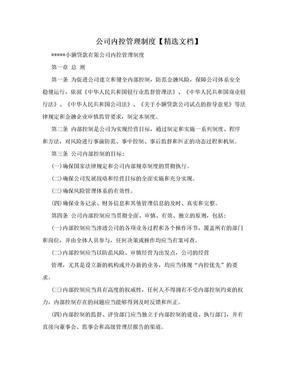 公司内控管理制度【精选文档】.doc