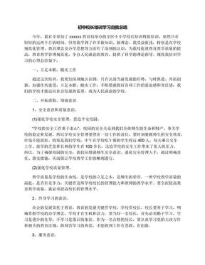初中校长培训学习自我总结.docx
