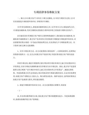专利法律事务维权方案.doc