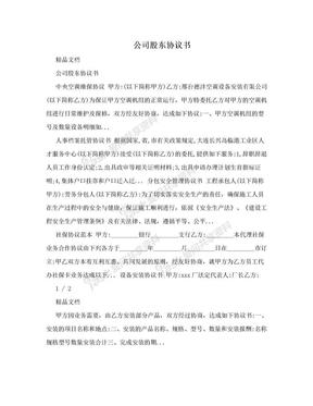 公司股东协议书.doc